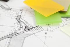 Materiais arquitectónicos - plásticos Foto de Stock Royalty Free