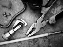 Materiais bondes das ferramentas fotografia de stock royalty free
