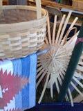 Materiais da cestaria Imagem de Stock Royalty Free