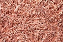 Materiais de cobre da sucata de metal que recicl o backround Fotografia de Stock