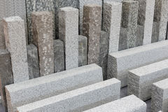 Materiais de construção cinzentos da pedra do granito Fotos de Stock Royalty Free