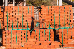 Materiais de construção dos tijolos Foto de Stock