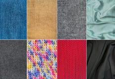 Materiais de matéria têxtil Imagem de Stock Royalty Free