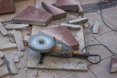 Materiais de pavimentação secos do corte Fotografia de Stock