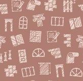 Materiais do revestimento, construção, teste padrão sem emenda, lápis que choca, marrom, cor, vetor ilustração do vetor