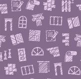 Materiais do revestimento, construção, teste padrão sem emenda, lápis que choca, roxo, cor, vetor ilustração do vetor