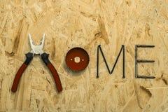Materiais e ferramentas da fixação Fotos de Stock