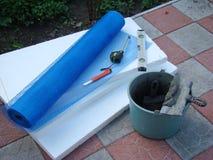 Materiais para a isolação térmica das paredes Foto de Stock