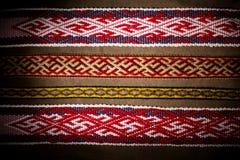 Material étnico de vikingo del modelo del bordado Imagen de archivo libre de regalías