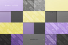 Material. Abstract, colorful background with square frames. vector geometric, fashion wallpaper template. material design backdrop. origami style, vector stock illustration