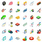 Material aid icons set, isometric style. Material aid icons set. Isometric set of 36 material aid vector icons for web isolated on white background Royalty Free Stock Photo