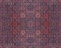 Material al aire libre del piso con el ladrillo rojo de la estrella Fotografía de archivo