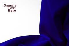 Material azul no fundo branco Fotografia de Stock Royalty Free