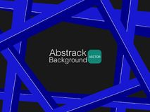 Material azul transversal branco do fundo abstrato Fotografia de Stock