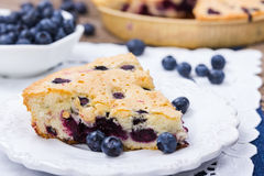 material: blåbär gräddfil, socker, två ägg Royaltyfri Foto