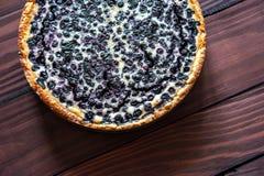 material: blåbär gräddfil, socker, två ägg Royaltyfri Bild