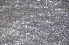 Material blanco del amortiguador del embalaje o de aire del plástico de burbujas Textura abstracta para Art Work creativo, cierre Imagen de archivo libre de regalías