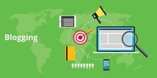 Material Blogging e para o blogger Fotos de Stock