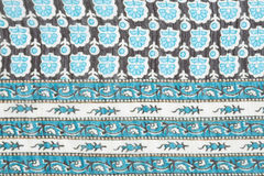 Material in blue abstract patterns, a background Royalty Free Stock Photography