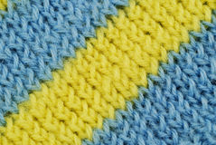 Material in blue and yellow stripes Stock Photo