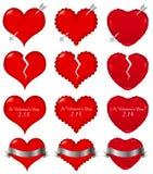 Material bonito da ilustração do dia de Valentim ilustração stock
