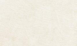 Material branco horizontal da lona a usar-se como o fundo ou a textura Fotografia de Stock Royalty Free
