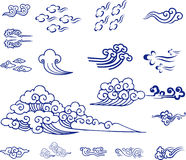 Material chinês da nuvem Imagem de Stock Royalty Free