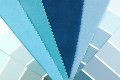 Material choice. Interior color design material choice Royalty Free Stock Photo