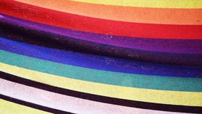 Material with colored deflections Royalty Free Stock Photography