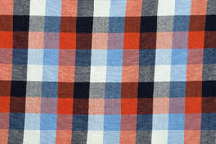 Material in a colorful plaid, a background Royalty Free Stock Photos
