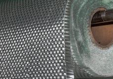 Material composto do rolo da tela da fibra de vidro Imagem de Stock