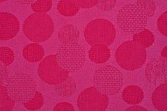 Material cor-de-rosa nos círculos, um fundo fotos de stock