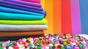 Material crafting colorido fotografia de stock royalty free