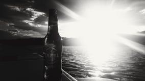 Material da cerveja pilsen de Tafel bom no lago Fotografia de Stock Royalty Free