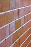 Material de base de la textura de la pared de ladrillo de la construcción de edificios de la industria fotos de archivo
