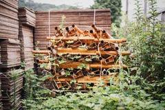 Material de construção abandonado Foto de Stock