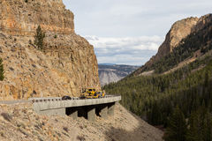 Material de construcción en Yellowstone Fotografía de archivo