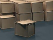 Material de embalaje de la madera contrachapada representaci?n 3d libre illustration