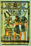 Material de escritura del papiro, en épocas antiguas comunes en Egipto, y más adelante en el espacio entero del mundo antiguo imagen de archivo