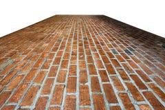 Material de fundo da textura do assoalho do tijolo da indústria Imagem de Stock