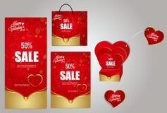 Material de fundo do dia do ` s do Valentim Fotografia de Stock