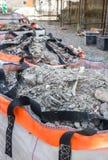 Material de las paredes demolidas Imagen de archivo libre de regalías