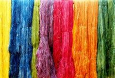 Material de lujo de seda de la ropa de la secuencia colorida Imagen de archivo