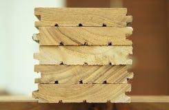 Material de madeira para a construção Foto de Stock Royalty Free