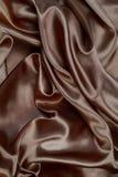 Material de seda de veludo do cetim da textura de Brown ou papel de parede elegante de Imagens de Stock Royalty Free