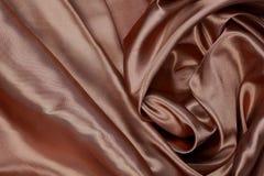 Material de seda o papel pintado elegante del terciopelo del satén de la textura de Brown fotografía de archivo