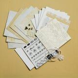 Material del arte de Cardmaking Imagen de archivo libre de regalías