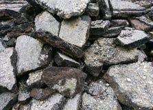 Material del cemento de la grieta en la construcción Fotografía de archivo