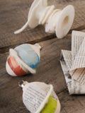 Material del chapucero para los huevos de Pascua Fotografía de archivo