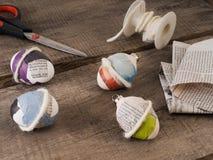 Material del chapucero para los huevos de Pascua Fotos de archivo